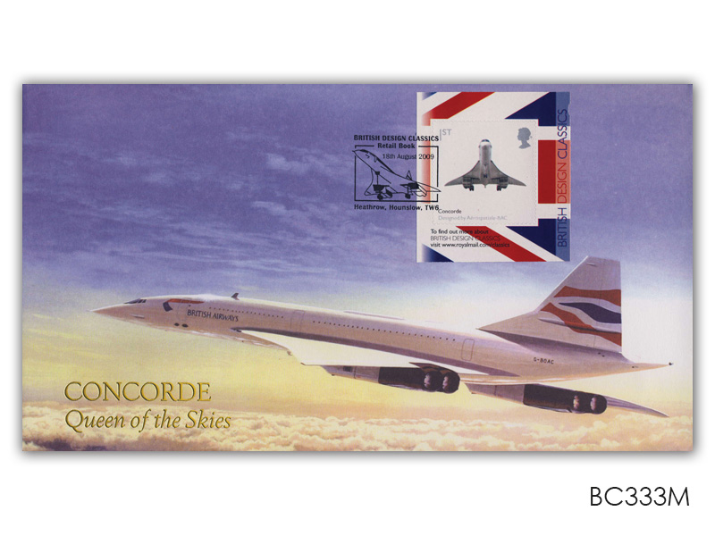 British Design Classics - Concorde Retail Booklet (Heathrow Postmark)