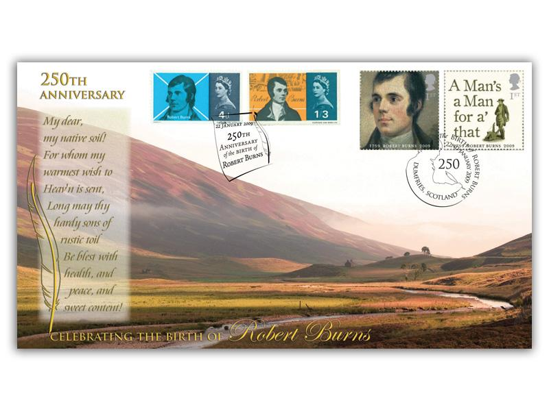 250th Anniversary of Robert Burns Stamp Cover