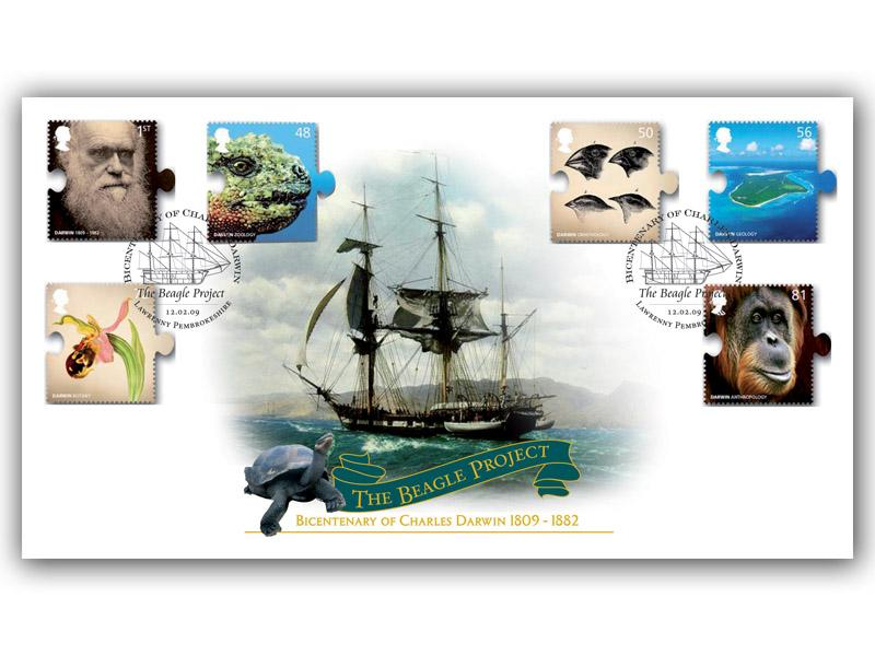 250th Anniversary of the Birth of Charles Darwin Stamps Cover