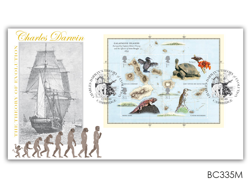 250th Anniversary of the Birth of Charles Darwin Miniature Sheet Cover