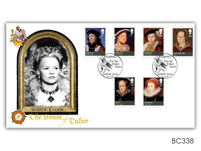 Kings and Queens - House of Tudor Stamps Cover