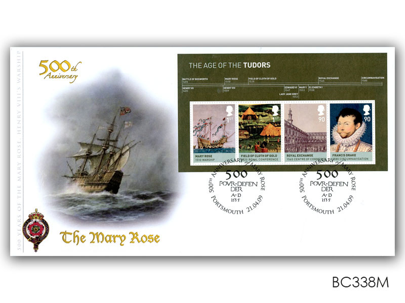 The Age of the Tudors - 500th Anniversary of The Mary Rose Miniature Sheet
