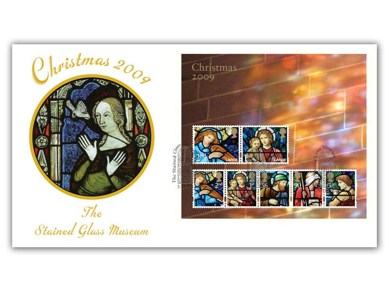 Christmas 2009 Stained Glass Museum Miniature Sheet Cover