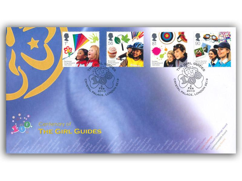 Girl Guides Centenary Stamps Taken from the Miniature Sheet