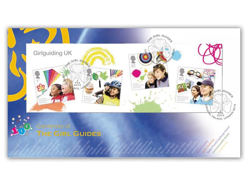 Girl Guides Centenary Miniature Sheet Cover