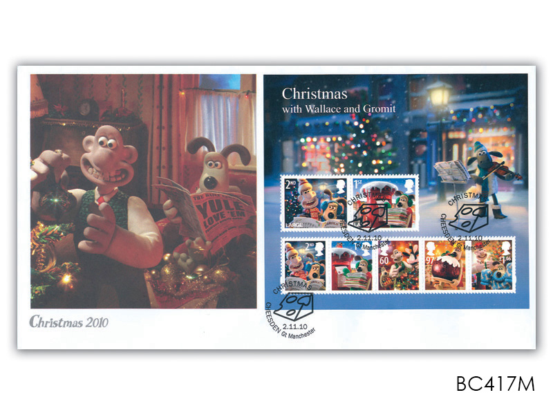 Christmas 2010 - Wallace & Gromit Miniature Sheet Cover