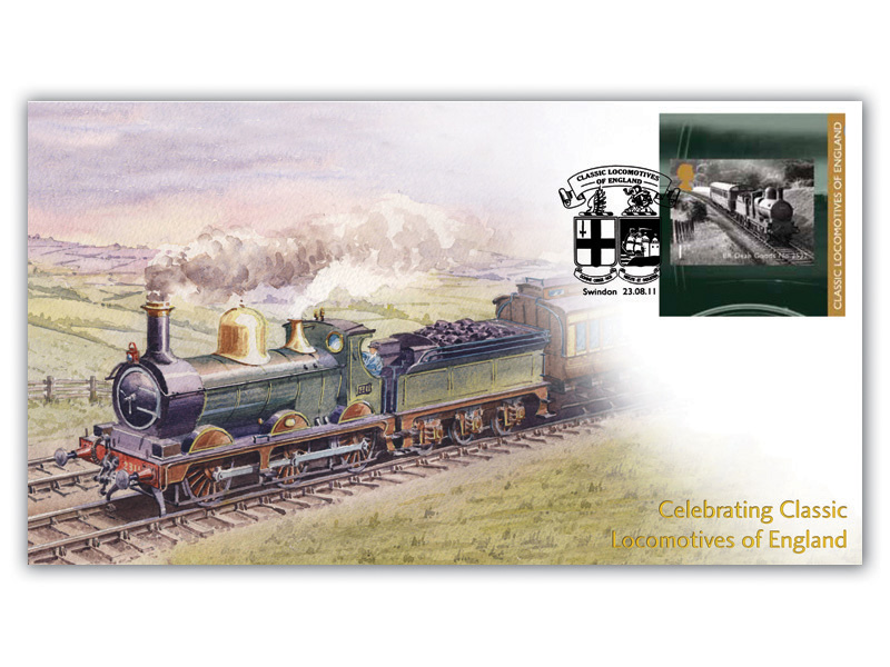 Classic Locomotives of England Single Stamp Retail Booklet Cover