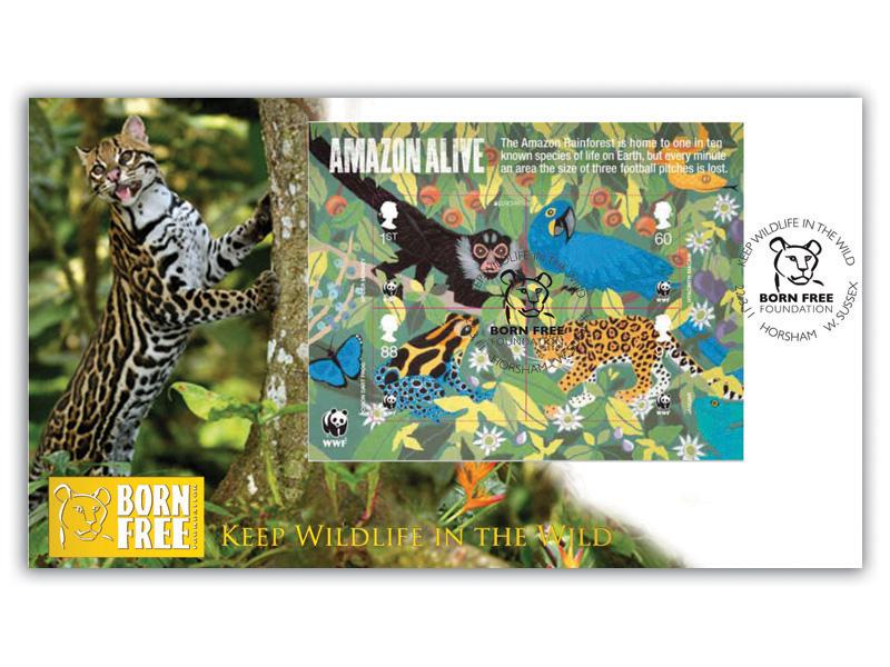 50th Anniversary of the World Wildlife Fund Miniature Sheet Cover