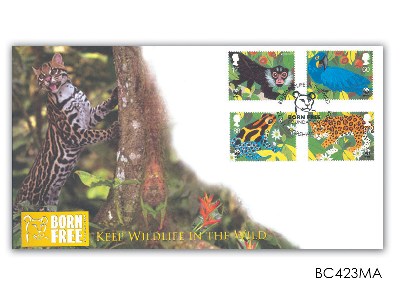 Keep Wildlife in the Wild Stamps from the Miniature Sheet Cover