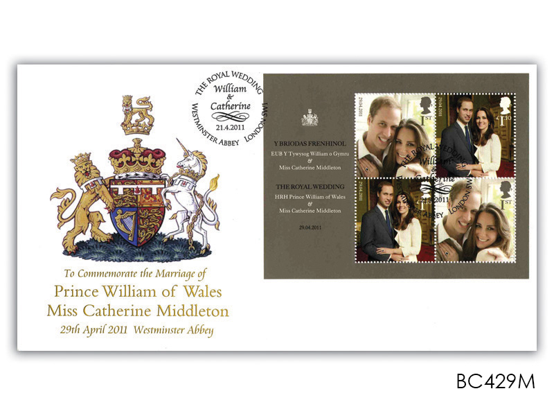 Royal Wedding miniature sheet first day Cover
