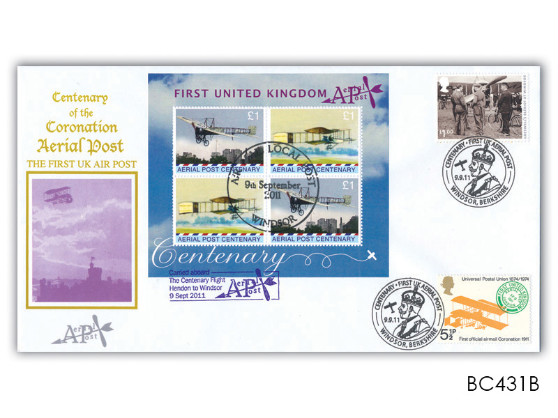Centenary of Aerial Post Mint Sheetlet Cover