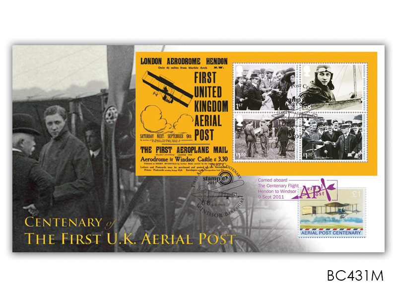 Centenary of Aerial Post Miniature Sheet Cover