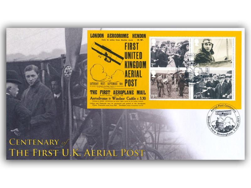 Centenary of Aerial Post Set of 4 Covers