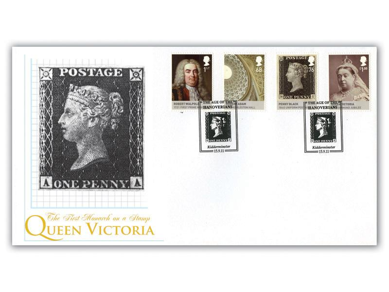 Kings & Queens, House of Hanover - The Penny Black Stamps from the M/S