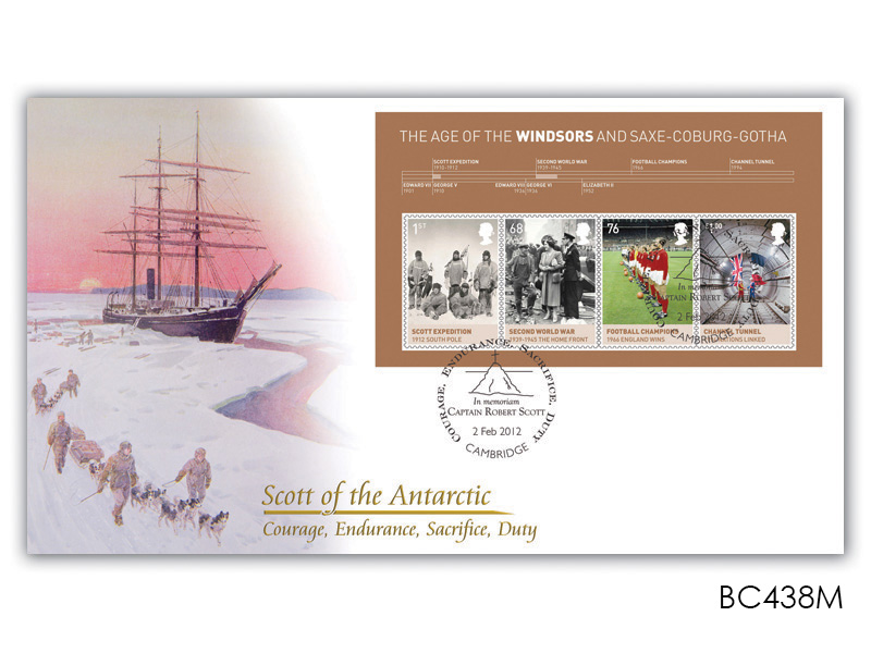 The House of Windsor - Scott of the Antarctic Miniature Sheet Cover