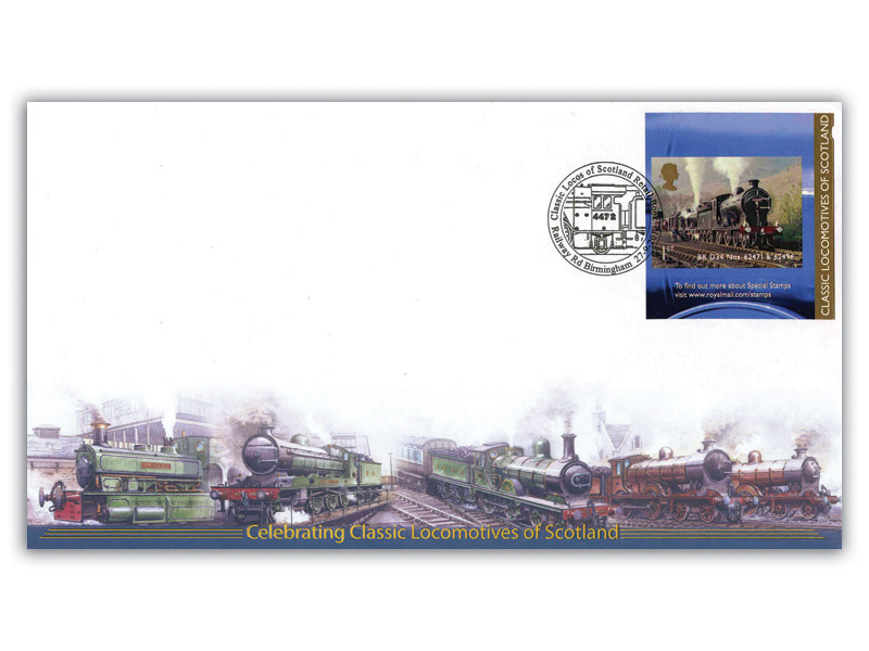Classic Locomotives of Scotland Single Stamp Retail Booklet Cover