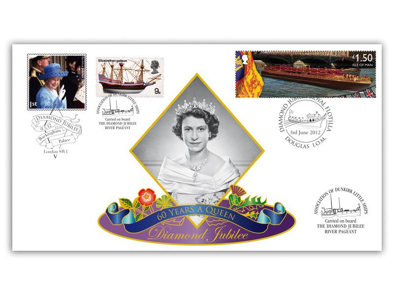 Diamond Jubilee Isle of Man Carried and Doubled Cover