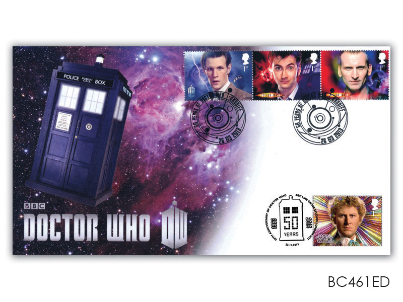 Classic TV - 50th Anniversary of Doctor Who Triple Stamp Cover