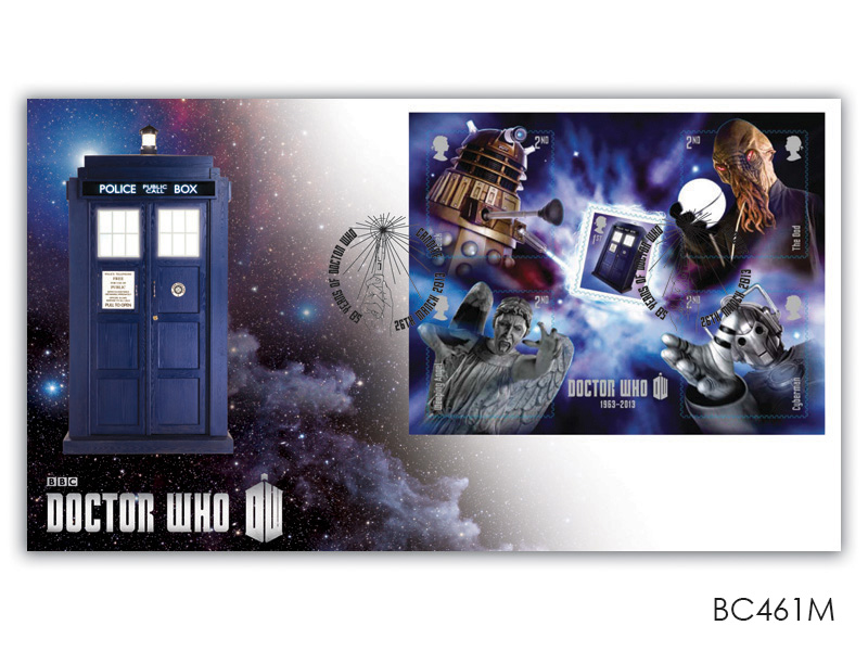 Classic TV - 50th Anniversary of Doctor Who Miniature Sheet