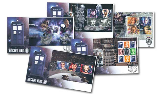 Classic TV - 50th Anniversary of Doctor Who Prestige Booklet Set of 5 Covers