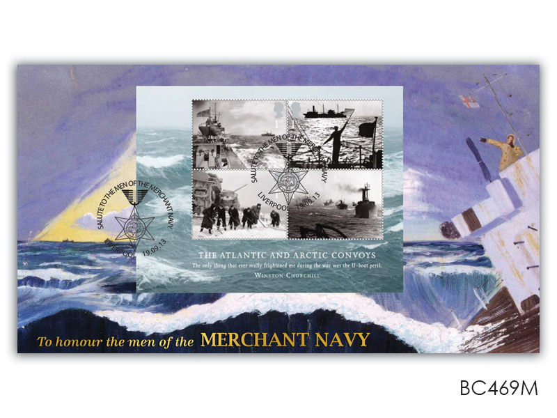 The Merchant Navy: The Atlantic and Artic Convoys Miniature Sheet
