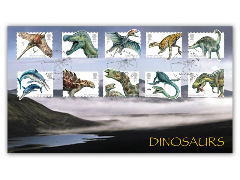Dinosaurs! Full Set of Epic Stamps