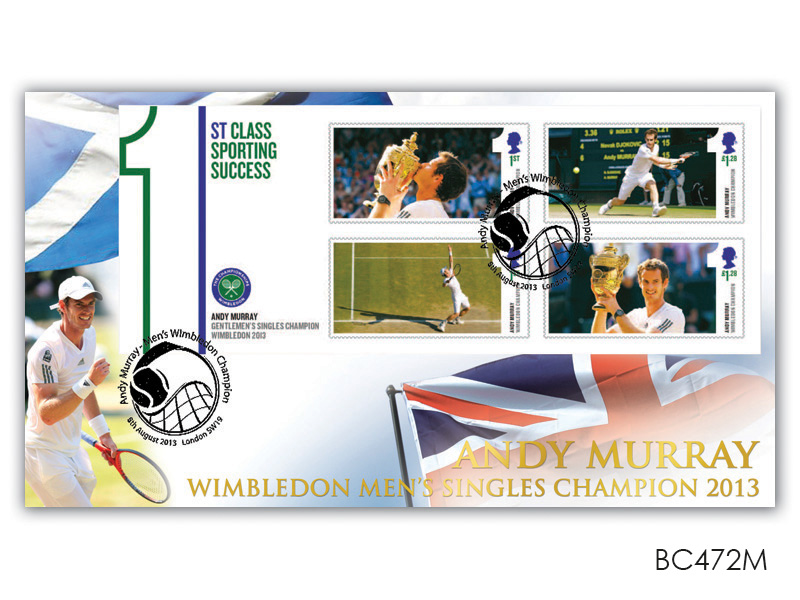 Andy Murray Wimbledon Men's Singles Champion 2013 Minature Sheet Cover