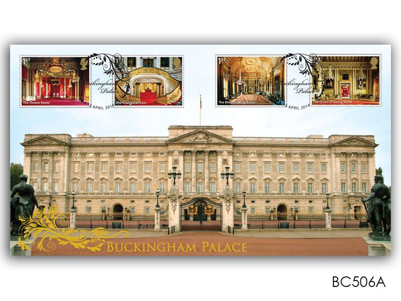 Buckingham Palace stamps from the Miniature Sheet