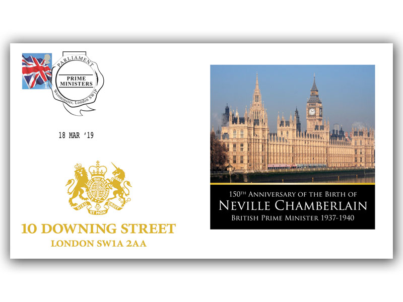 150th Anniversary of the Birth of Neville Chamberlain First Day Covers