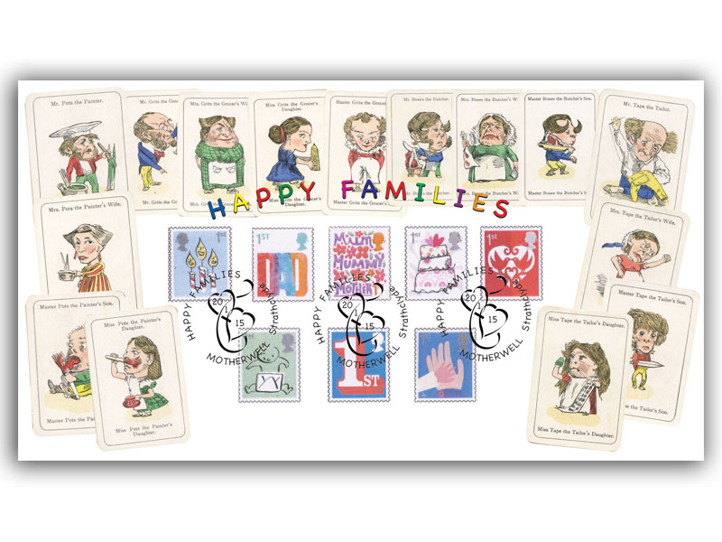 Happy Families Stamps Cover