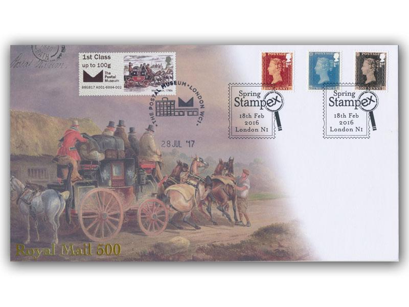 Royal Mail 500 Stampex Overprinted Doubled Cover