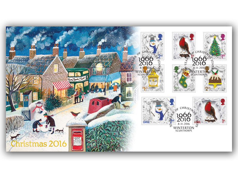 Celebrating 50 Years of Christmas Stamps 2016