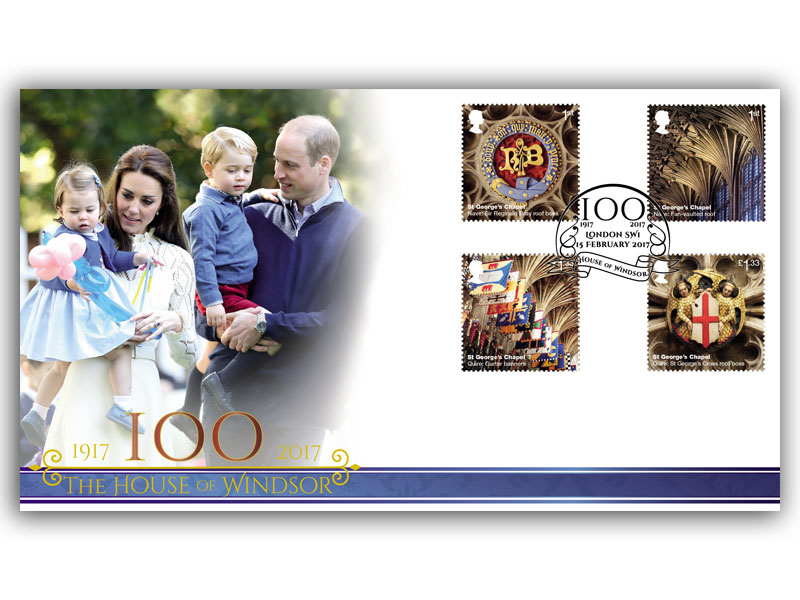 100 Years of the House of Windsor Stamps from the Miniature Sheet