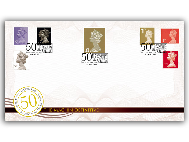 50th Anniversary of the Machin Golden Anniversary Stamps taken from the M/S