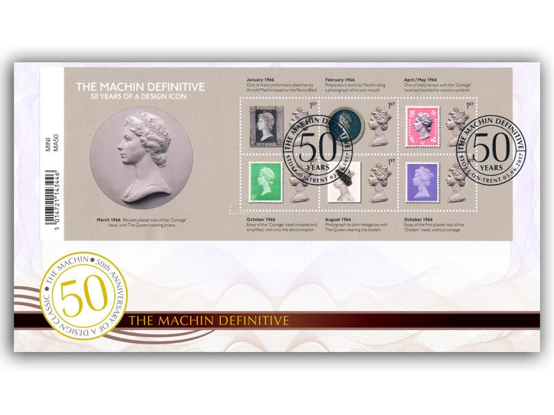 50th Anniversary of the Machin Barcode Definitive Miniature Sheet