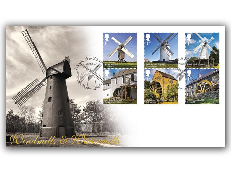 Windmills and Watermills First Day Cover