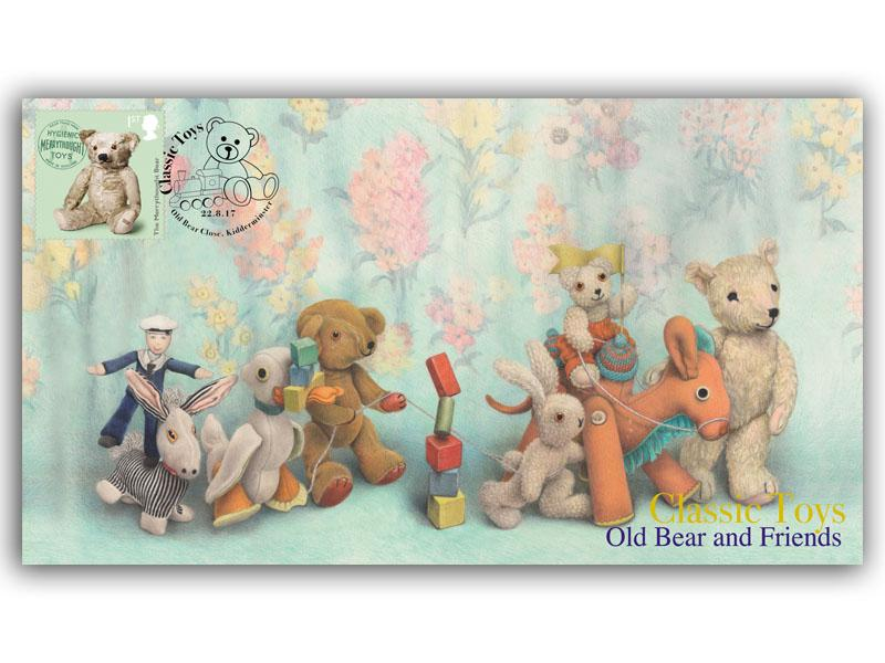 Old Bear and Friends Single Stamp Cover