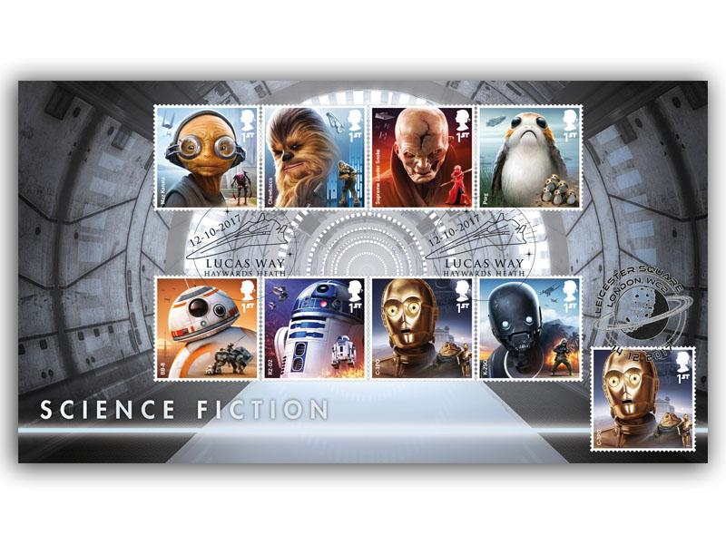 Star Wars Film Release Doubled First Day Cover