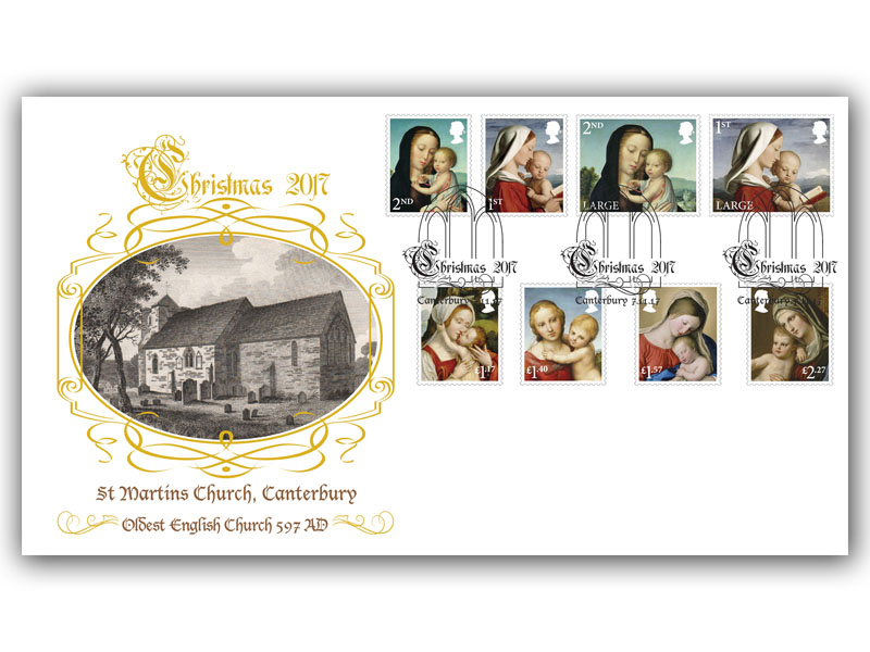 Christmas 2017 Stamps Cover