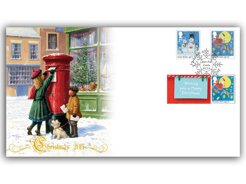 Christmas 2017 - Children's Christmas Stamp Competition Stamp and Label Cover