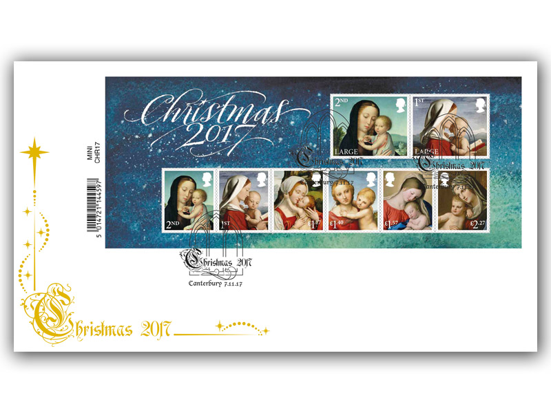 Christmas 2017 Barcode Miniature Sheet Cover
