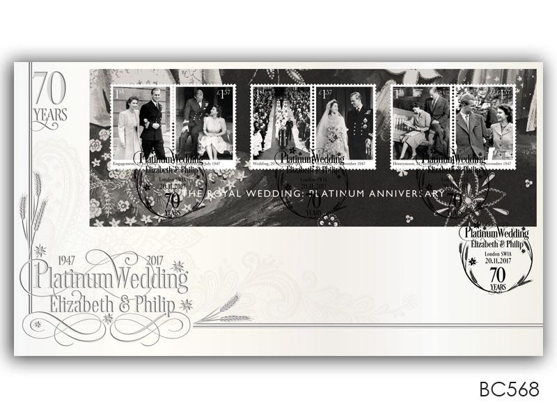 Royal Platinum Wedding Miniature Sheet Cover