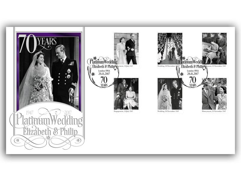 Platinum Wedding Stamps First Day Cover