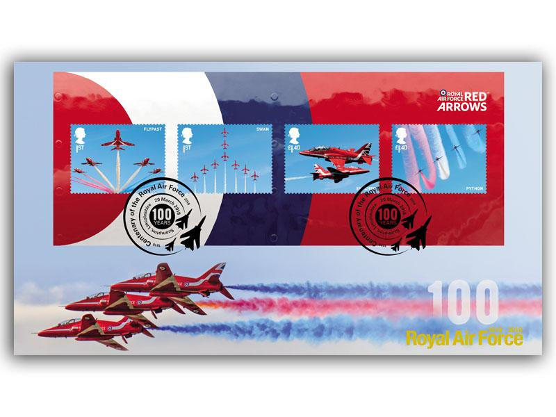 100 Years of the Royal Air Force - The Red Arrows Miniature Sheet