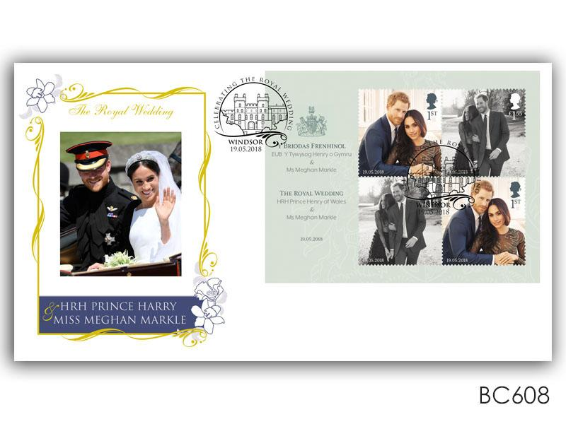 The Royal Wedding of HRH Prince Harry and Miss Meghan Markle Miniature Sheet Cover
