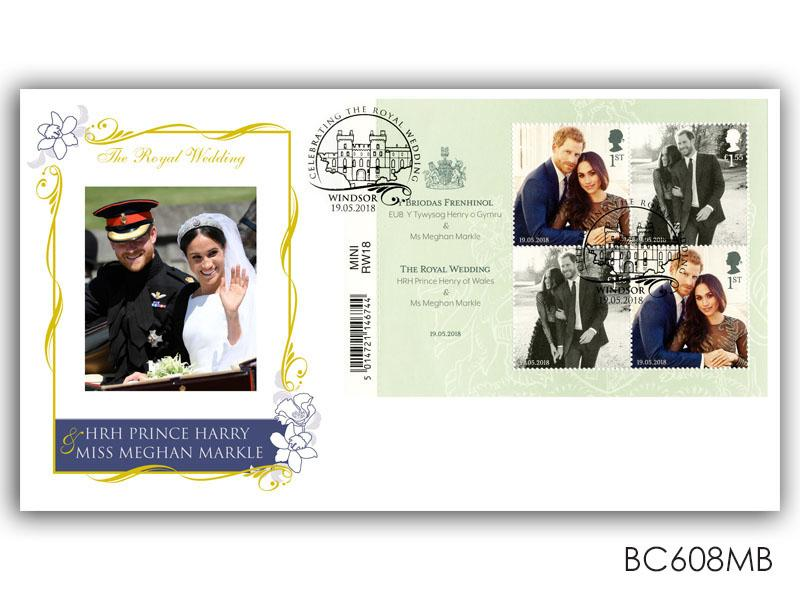 Royal Wedding of Prince Harry and Meghan Markle Barcode Miniature Sheet