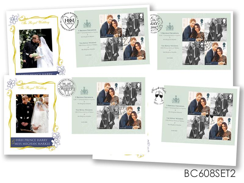 The Royal Wedding of HRH Prince Harry and Miss Meghan Markle Set of 4 Covers