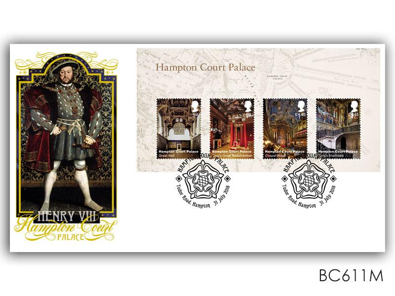Henry VIII / Hampton Court Palace Miniature Sheet Cover