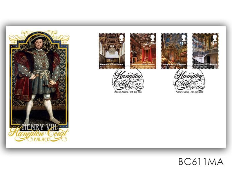 Henry VIII / Hampton Court Palace Stamps torn from the Miniature Sheet