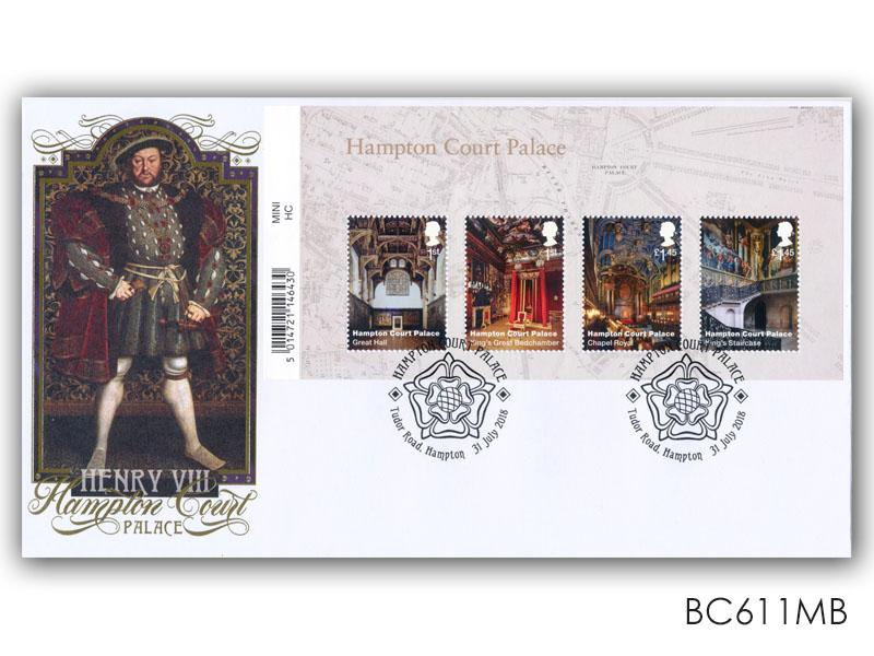 Henry VIII / Hampton Court Palace Barcode Miniature Sheet Cover